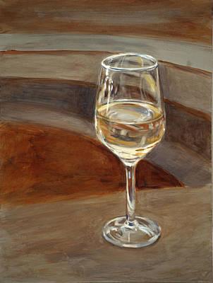 Tableware Painting - Chardonnay by Christopher Reid
