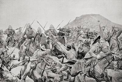 Charge Of The 5th Lancers At The Battle Art Print