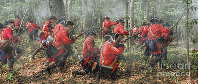 Seven Years War Digital Art - Charge Of The 60th Royal Americans Regiment At Bushy Run by Randy Steele