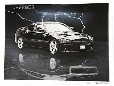 Charger Art Print by Raymond Potts