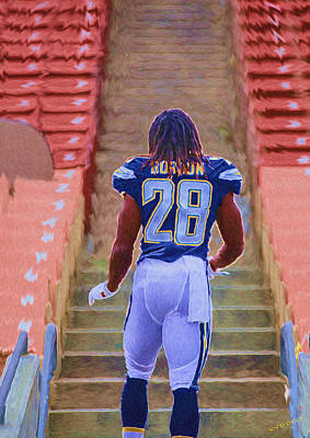 Rookie Painting - Chargers Rb Melvin Gordon by Tyler Watts KyddCo