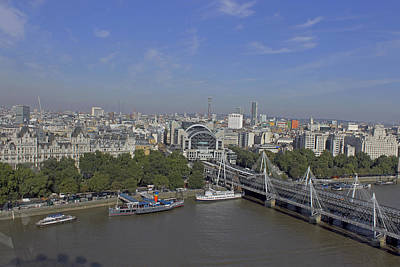 Photograph - Charing Cross From London Eye.  by Tony Murtagh
