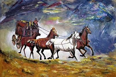 Painting - Chariot, A Type Of Conveyance by Khalid Saeed