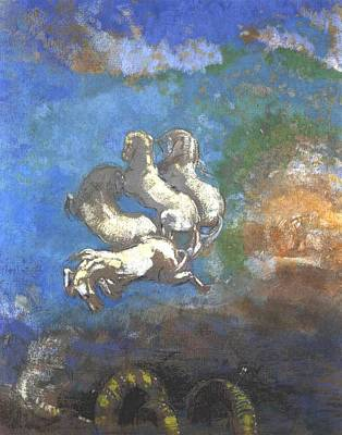 Painting - Chariot Of Apollo  by Odilon Redon