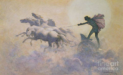 Pegasus Painting - Chariot Of The Sun by John Charles Dollman