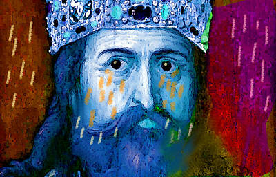 Bible Mixed Media - Charlemagne Crying For Faithless Europa by Paul Sutcliffe