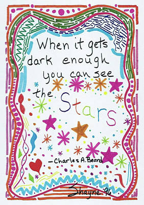 Drawing - Charles A. Beard Doodle Quote by Susan Schanerman