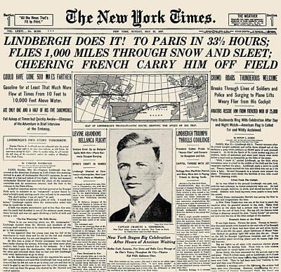 Photograph - Charles A. Lindbergh by Granger