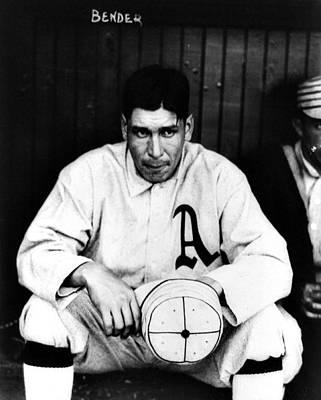 Sports Paintings - Charles Albert Chief Bender, of the Philadelphia Athletics baseball team by Celestial Images