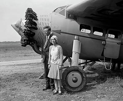 Photograph - Charles And Anne Morrow Lindbergh 1929 by Daniel Hagerman