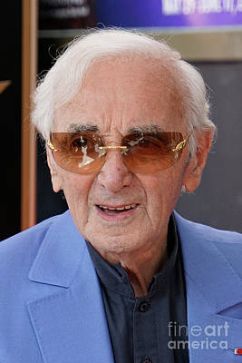 Photograph - Charles Aznavour 2 by Nina Prommer