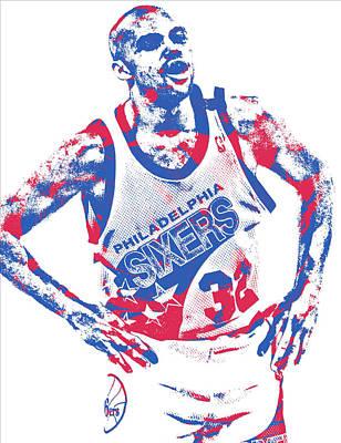 Mixed Media - Charles Barkley Philadelphia 76ers Pixel Art 5 by Joe Hamilton
