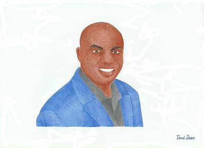 Pheonix Drawing - Charles Barkley  by Toni Jaso