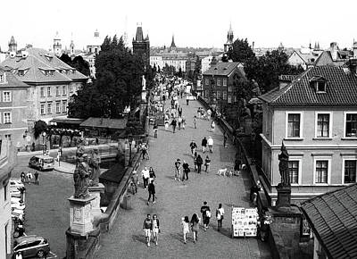 Photograph - Charles Bridge 2 Bw by C H Apperson