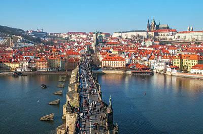 Photograph - Charles Bridge Across Vltava River. Prague by Jenny Rainbow