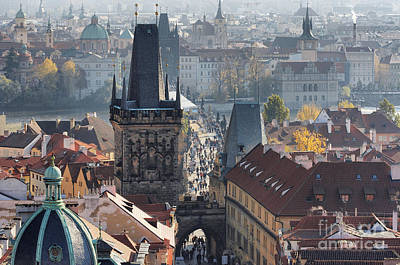 Cityspace Photograph - Charles Bridge And Bridge Towers by Michal Boubin