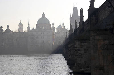 Cityspace Photograph - Charles Bridge At Early Morning by Michal Boubin