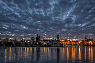 Photograph - Charles Bridge Dawn #2 - Prague by Stuart Litoff