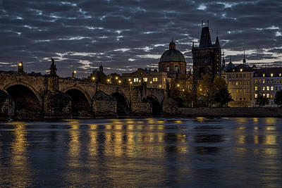 Photograph - Charles Bridge Dawn - Prague by Stuart Litoff