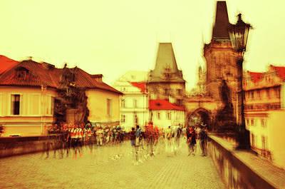 Photograph - Charles Bridge. Golden Prague. Impressionism by Jenny Rainbow