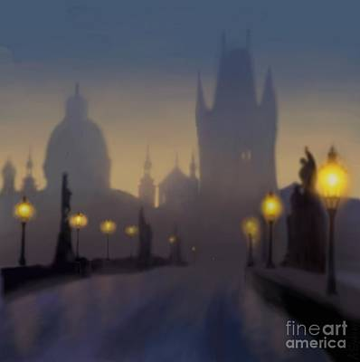 Charles Bridge Prague Art Print by Alexander Sydney