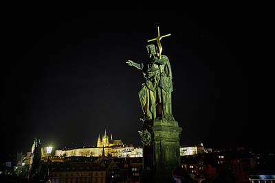 Photograph - Charles Bridge. Prague Spring 2017 . Pague By Night by Jouko Lehto