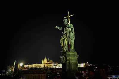 Photograph - Charles Bridge. Prague Spring 2017 . Pague By Night by Jouko Lehto