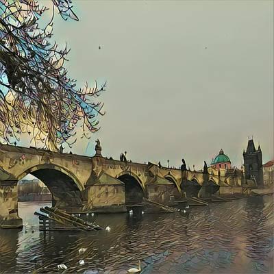 Charles Bridge  Art Print