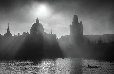 Charles Bridge Towers, Prague, Czech Republic Art Print