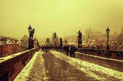 Photograph - Charles Bridge. Wintry Prague by Jenny Rainbow