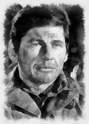 Charles Bronson Painting - Charles Bronson 1966 Actor by Esoterica Art Agency