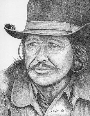 Drawing - Charles Bronson by Lawrence Tripoli