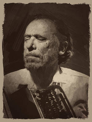 Author Digital Art - Charles Bukowski 1 by Afterdarkness