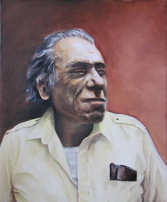 Charles Bukowski-portrait Art Print