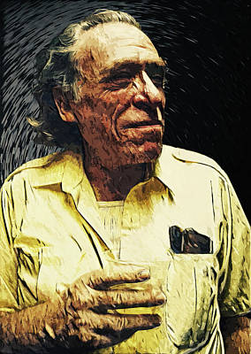 Digital Art - Charles Bukowski by Taylan Apukovska