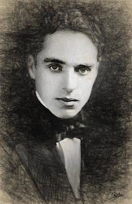 Chaplin Digital Art - Charles Chaplin  by Quim Abella