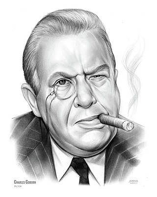 Drawing - Charles Coburn by Greg Joens