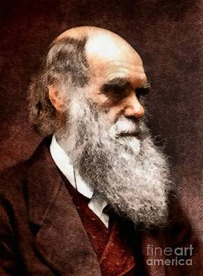 Physics Painting - Charles Darwin, Legendary Scientist by John Springfield