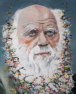 Painting - Charles Darwin - Oil Portrait.2 by Fabrizio Cassetta