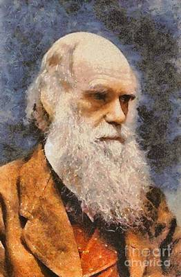 Airforce Painting - Charles Darwin, Scientist by Mary Bassett