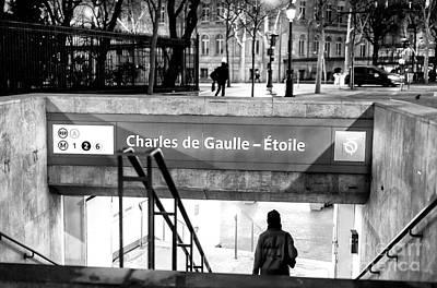 Photograph - Charles De Gaulle-etoile Paris by John Rizzuto