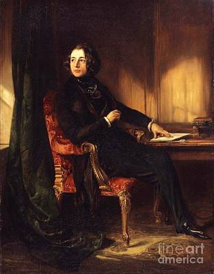 Dickens Painting - Charles Dickens by Celestial Images