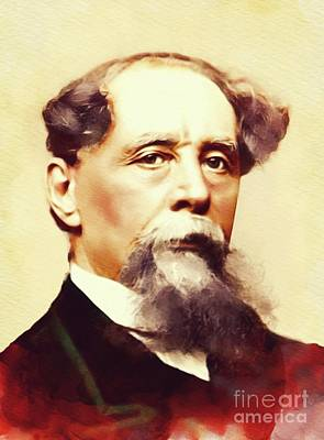 Sean Rights Managed Images - Charles Dickens, Literary Legend Royalty-Free Image by Esoterica Art Agency