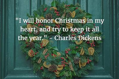 Photograph - Charles Dickens Quote by Matt Create