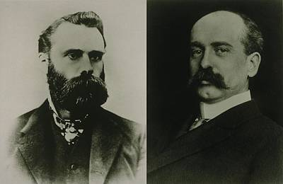 Wall Street Journal Photograph - Charles Dow And Edward Jones, Cofounded by Everett