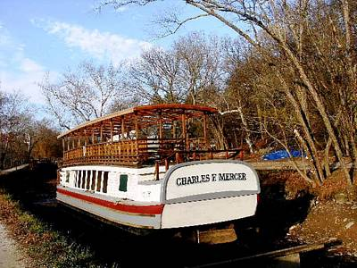 Charles E Mercer Boat - Great Falls Md Art Print by Fareeha Khawaja