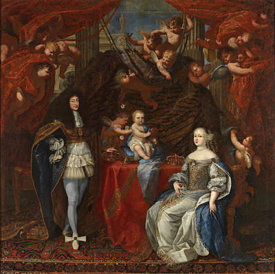 Painting - Charles Emmanuel II Duke Of Savoy And His Family by Charles Dauphin