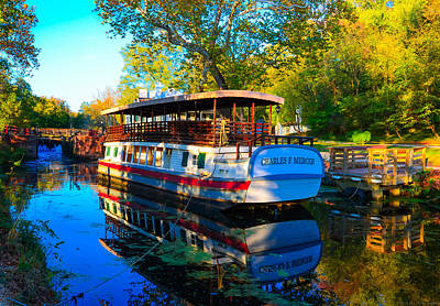 Photograph - Charles F Mercer Pocket Boat On C And O Canal by Jeff at JSJ Photography