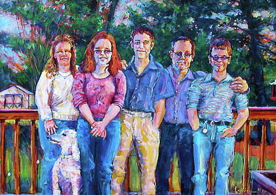 Painting - Charles' Family Portrait by Les Leffingwell