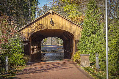 Music Royalty-Free and Rights-Managed Images - Charles Harding Memorial Covered Bridge  by Jack R Perry